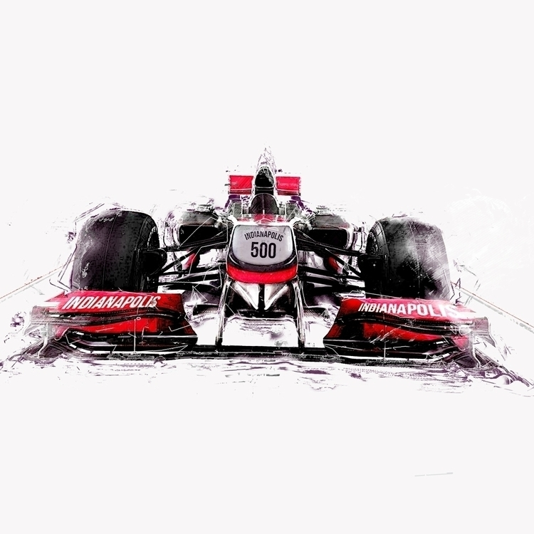 Indy 500 - illustration, design - magdawozniak | ello