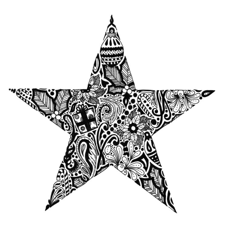 Star - illustration, drawing, blackandwhite - ellenparzer   ello