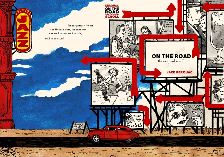 book cover Jack Road - jackkerouac - meedean | ello