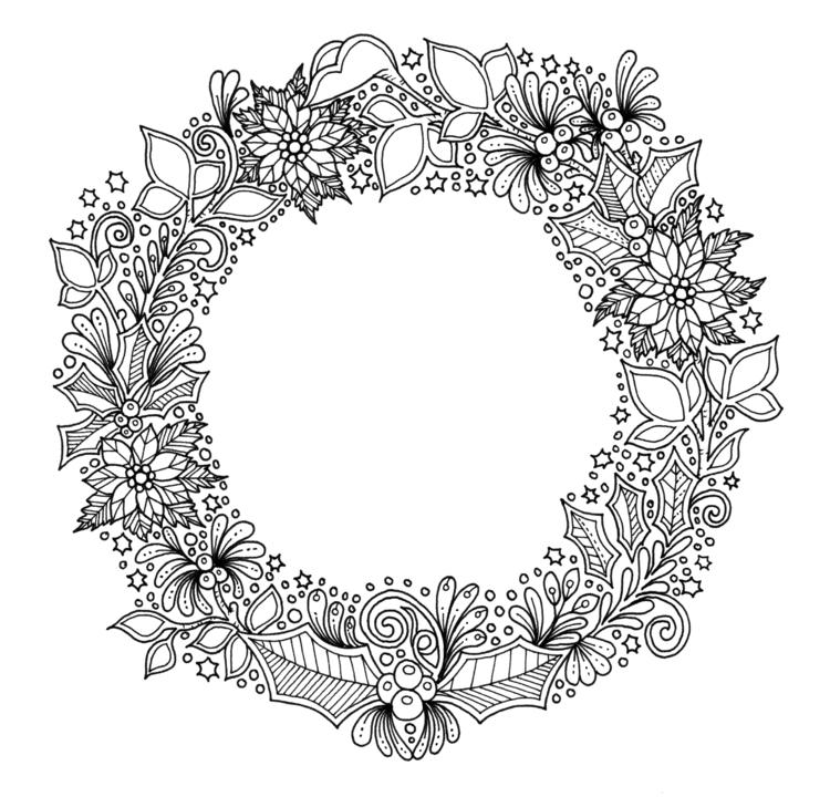 Wreath - illustration, drawing, blackandwhite - ellenparzer   ello