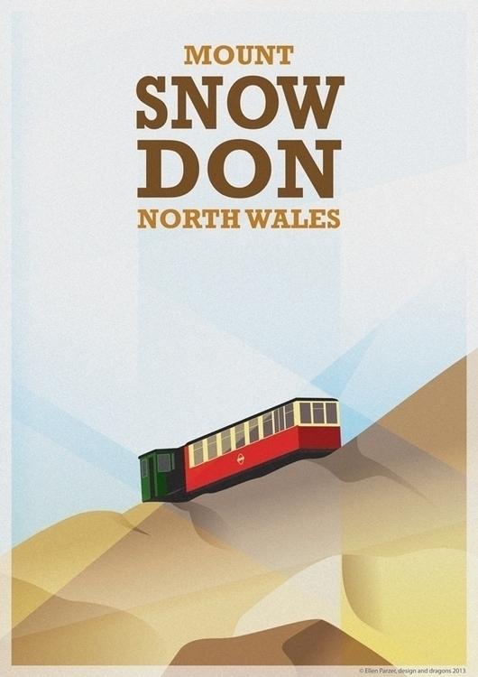 Mount Snowdon - illustration, digitalart - ellenparzer   ello