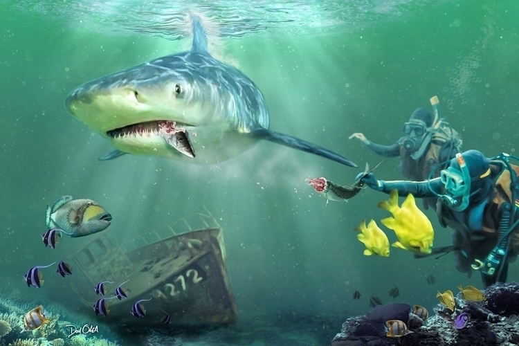 Shark Bait - composite, photography - donolea | ello
