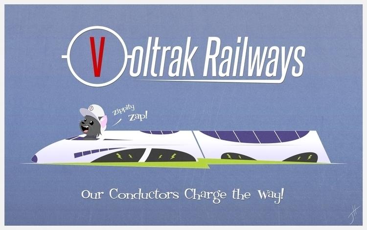 Voltrak Railways Ad - illustration - fxscreamer | ello