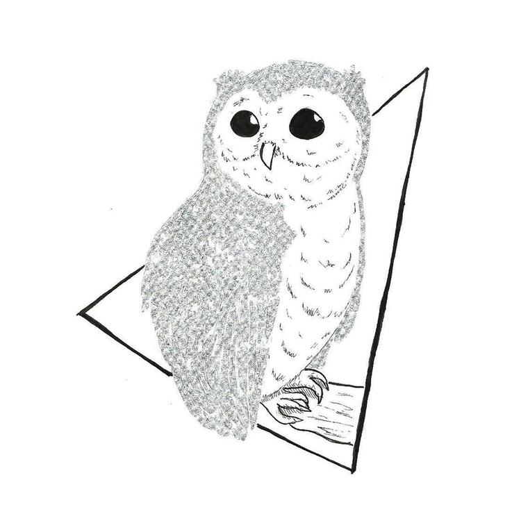 12. Owl - illustration, drawlloween2016 - hotshots2000 | ello