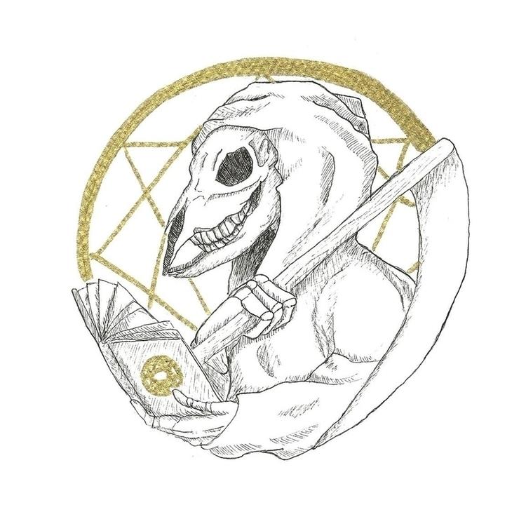 13. Reaper - illustration, drawlloween2016 - hotshots2000 | ello