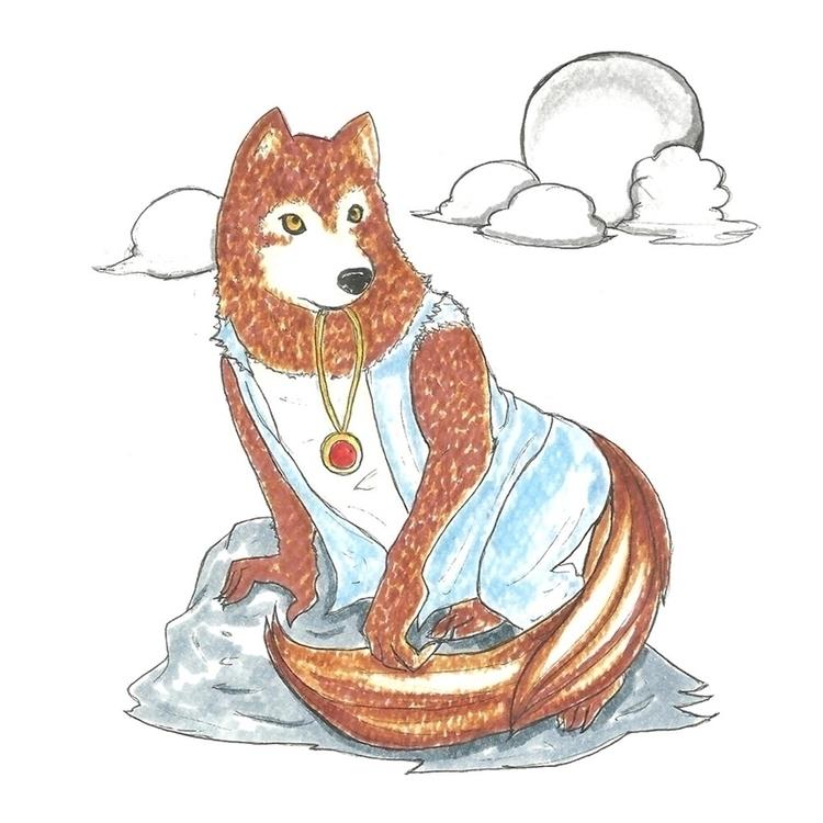 14 Werewolf - illustration, drawlloween2016 - hotshots2000 | ello