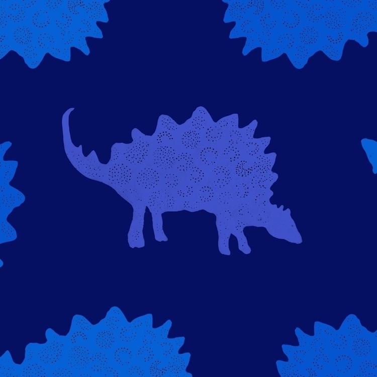 illustration, patterndesign, dinosaurs - beckulla | ello