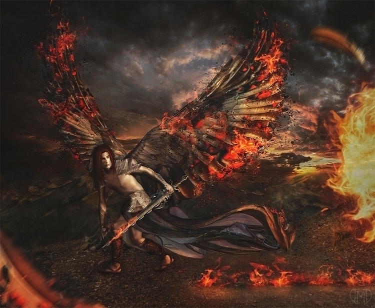 Flames Wicked - illustration, photomanipulation - majentta | ello