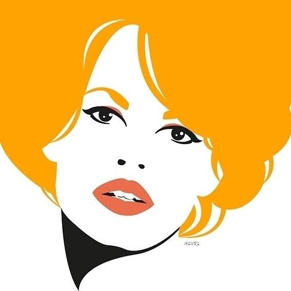 Brigitte Bardot - bb, illustration - mastra | ello
