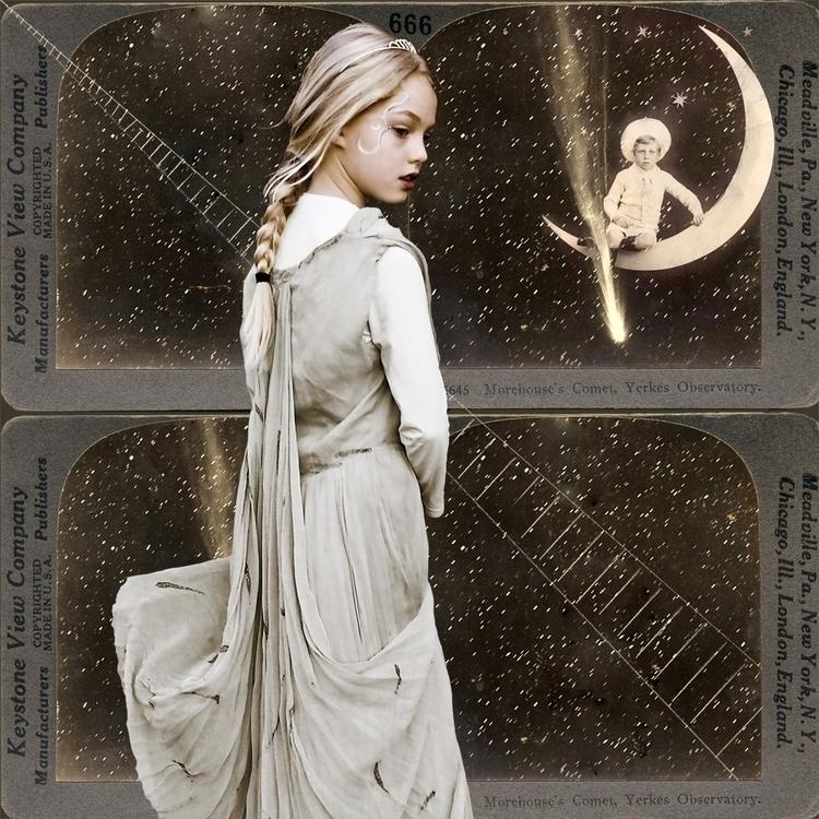fairytales, grimm, moon, annemasoeuranne - luisacatucci | ello