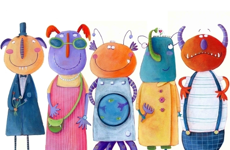 Monsters - illustration, children'sillustration - francescaassirelli | ello