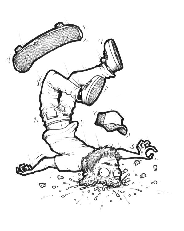 180 Teeth Slide - illustration, skate - duxodurazzo | ello