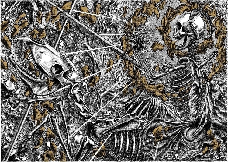 illustration, skull, skeleton - abovechaos | ello