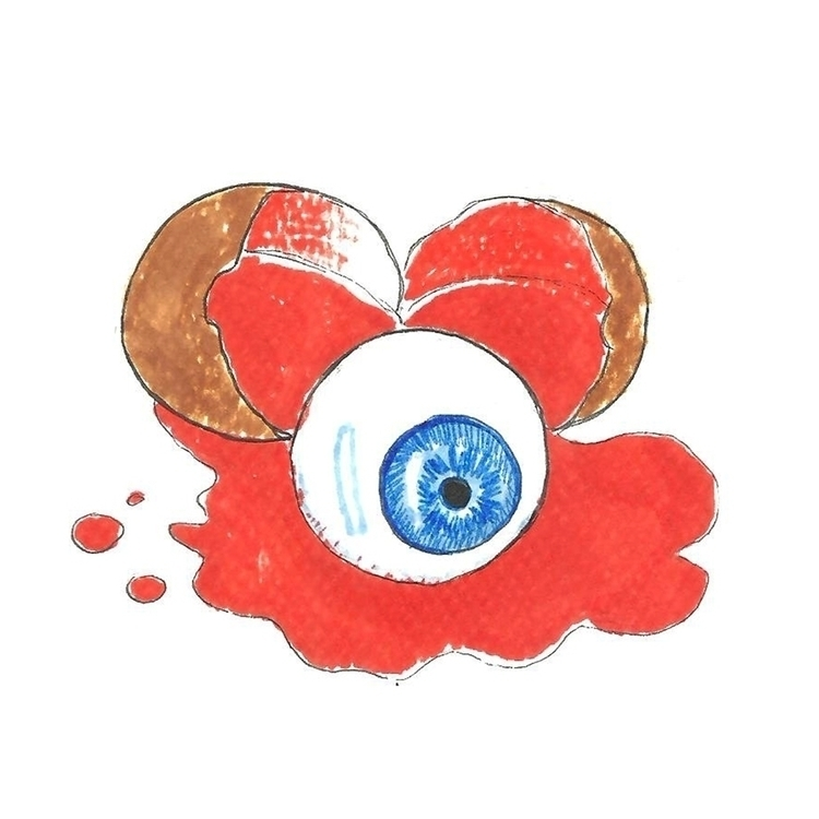 29. Eyeball - illustration, drawlloween2016 - hotshots2000   ello
