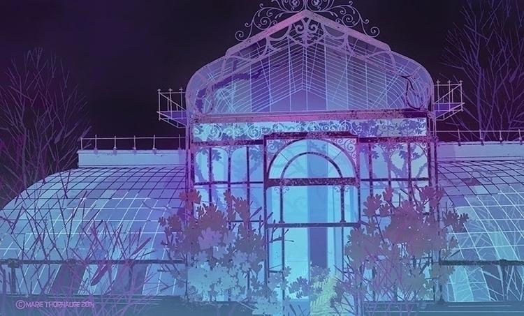 Greenhouse. Personal work - background - artbythorhauge | ello
