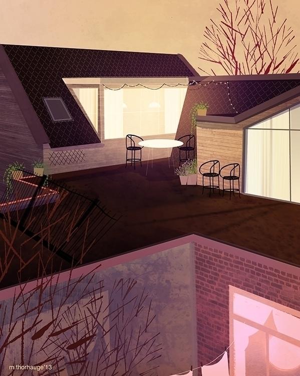 Rooftop. Personal work  - background - artbythorhauge | ello
