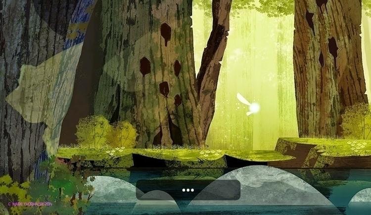 LOZ fanart. backdrop 2D animate - artbythorhauge | ello