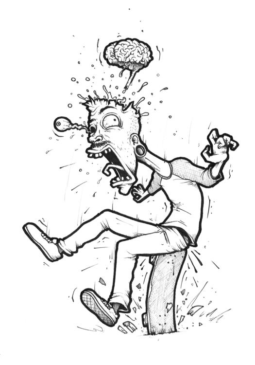 Nollie Crooked Ass Plant - illustration - duxodurazzo | ello