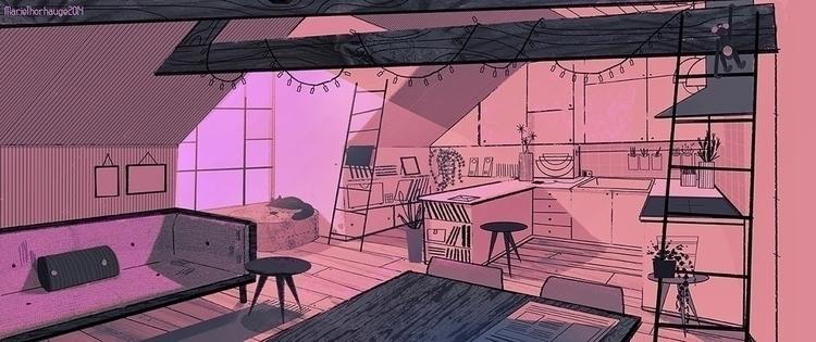 Room. Personal work  - background - artbythorhauge | ello