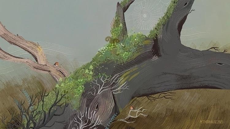 Robins. Personal work  - background - artbythorhauge | ello