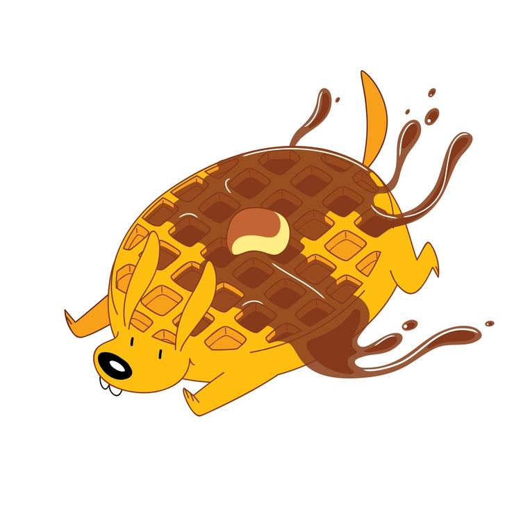 Waffle Dog - waffle, dog, illustration - kaseythegolden | ello