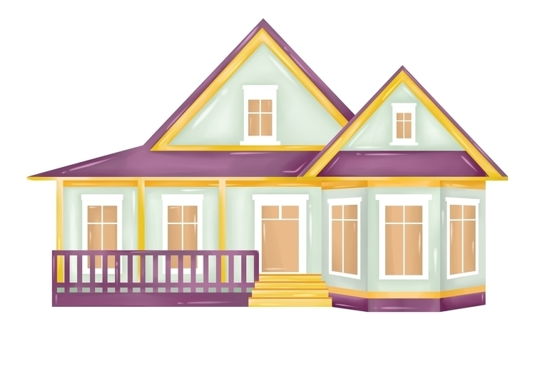 illustration, house, sweetcolor - diepduong | ello