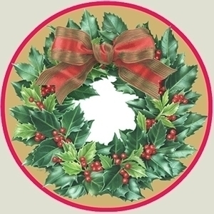 holly wreath printed products p - karenkluglein | ello