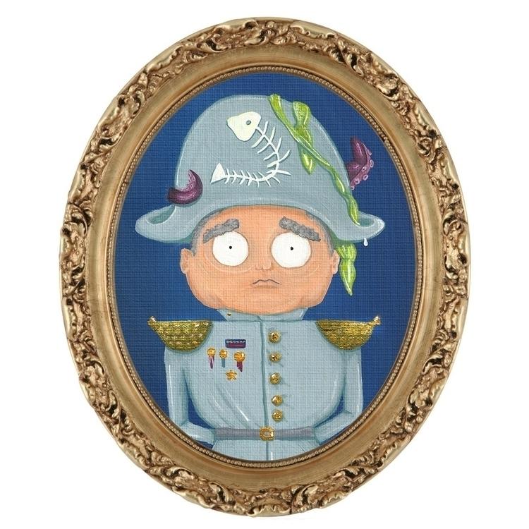 Captain Overboard | Acrylic Pai - laceyleach | ello