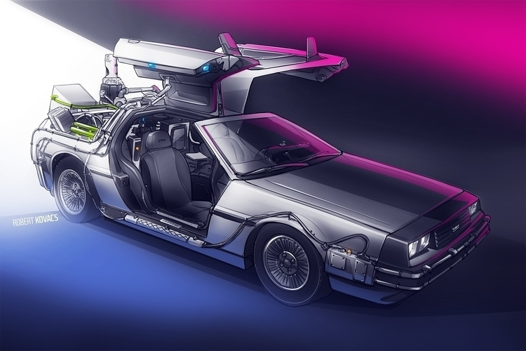 Future - illustration, car, sketch - roobidesign | ello