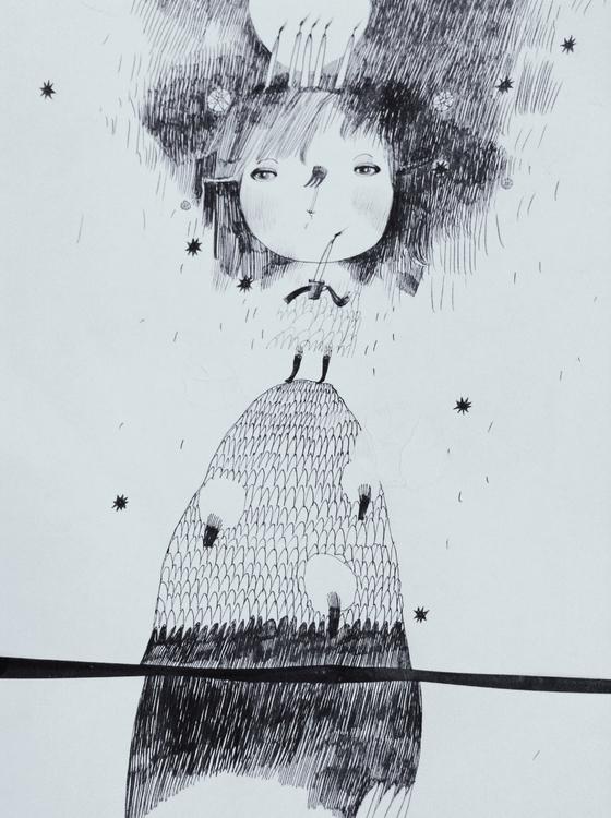 illustration, drawing, #teawithrosejam - teawithrosejam | ello