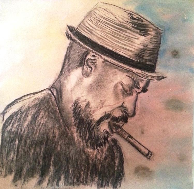 Titre Le cubain Technique mixte - lydiann | ello