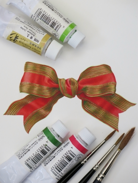 bow painted separately - holiday - karenkluglein | ello