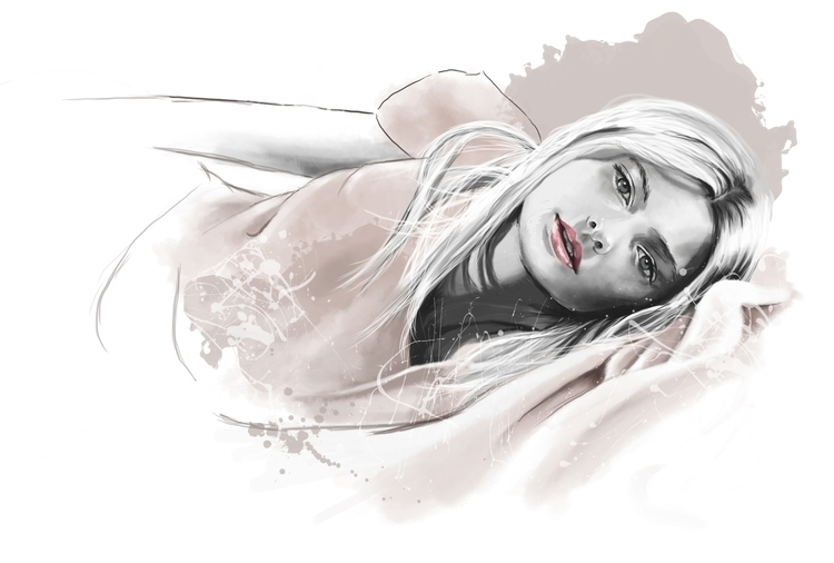 Sketch 02 - illustration, painting - georgia-1002 | ello