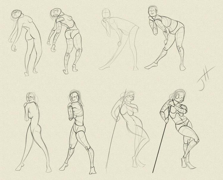 Figure Studies - 1, study, figuredrawing - fxscreamer | ello
