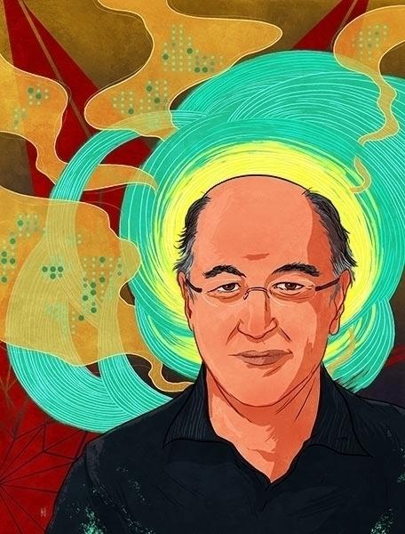 Portrait Stephen Wolfram, creat - kiwifruitbird | ello