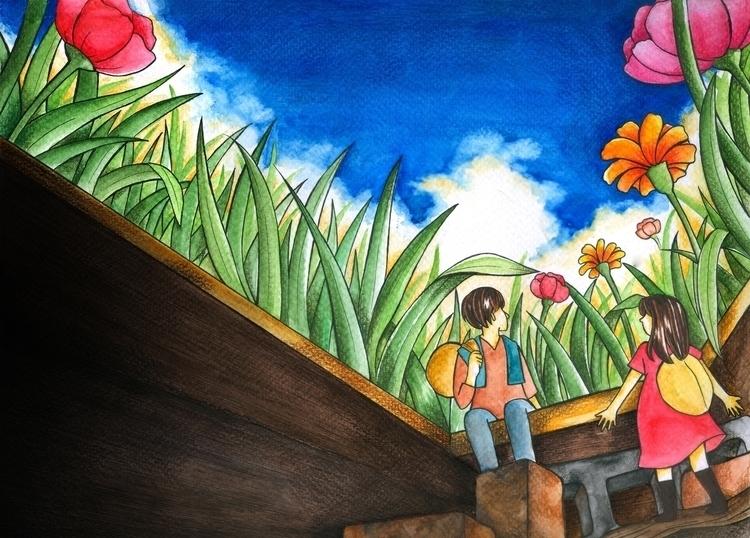 illustration book cover design - diepduong   ello