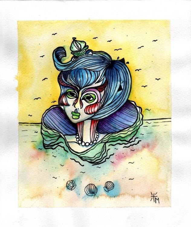Mujer de mar - marcelacifuentes1991 | ello