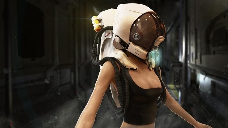 Cyborg - cyberpunk, cyborg, android - dubcoonco | ello