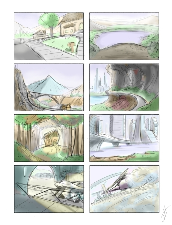 Thumbnails - 1, illustration, landscape - fxscreamer | ello