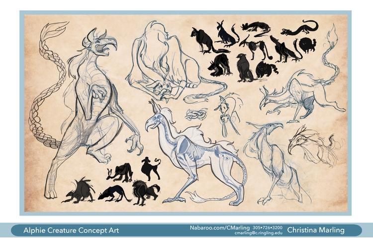 Alphyn creature designs. intere - cmarling | ello
