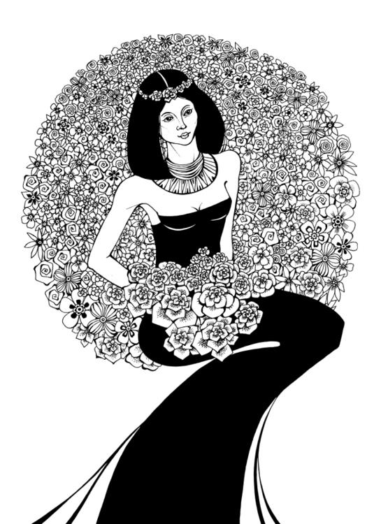 Spring - woman, flowers, muchastyle - depesha2   ello