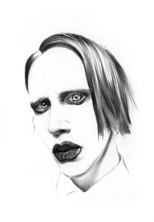 marilynmanson, drawing, pencil - adelina-9257 | ello