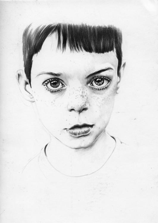 portrait, cameradude, boy, pencildrawing - adelina-9257 | ello