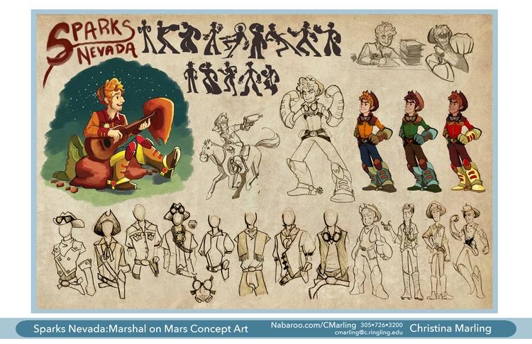 Character design titual charact - cmarling | ello