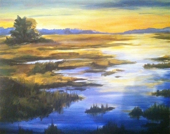 NJ Swamps, 16x20 oil canvas - smhosier | ello