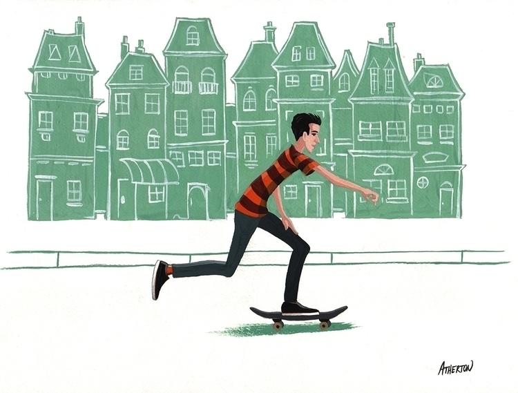 Euro skater - skateboard, skateboarding - jimatherton | ello