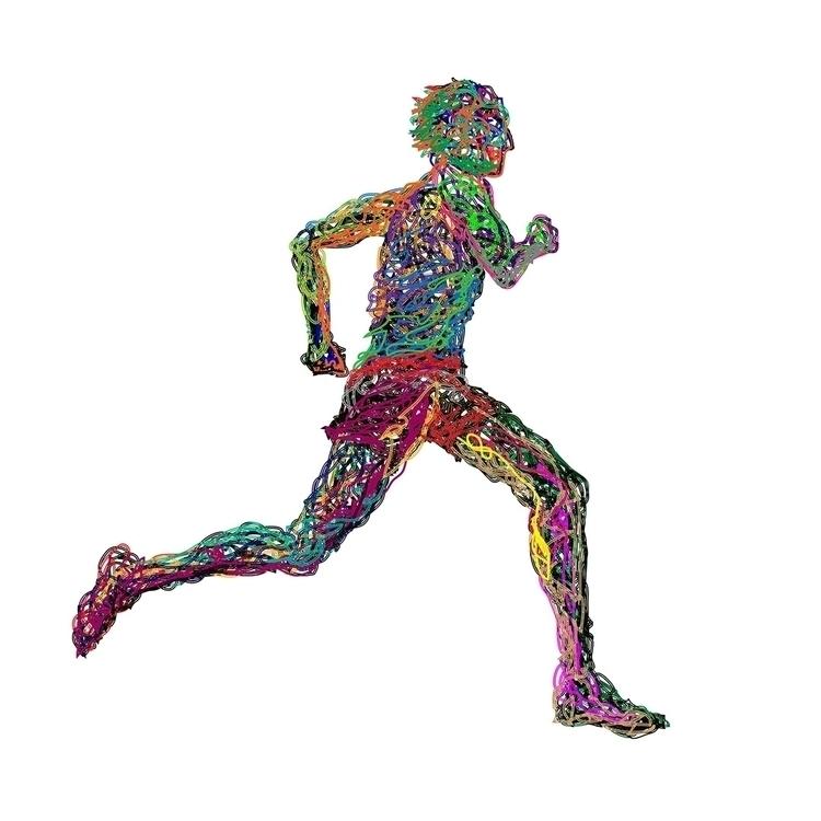 Wired Running - illustration, adobeillustrator - hr411design | ello