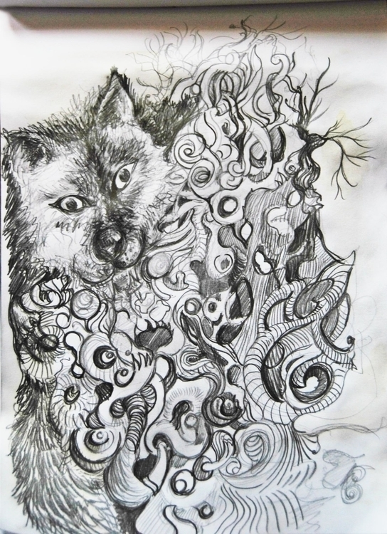 Wolf wonderworld - illustration - wickedbastet1982 | ello