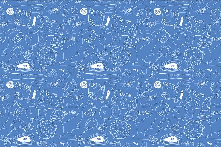 Sea Life - illustration, pattern - ololonycolophony | ello