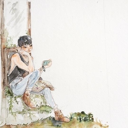Watercolor concept - illustration - imaniking   ello